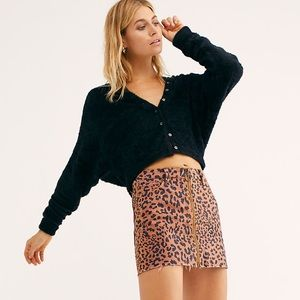NWT Free People FP One Allegra Cardi Black S